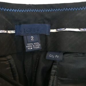 J. Crew Back City Fit suiting pants